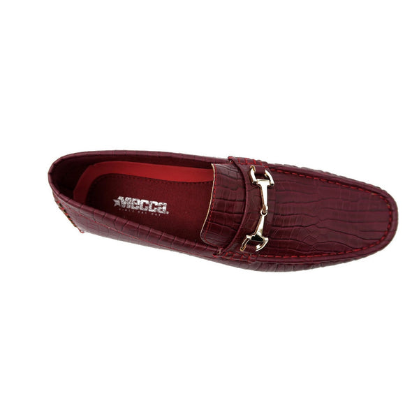 Mecca Mens Slip-On Loafer Driver Shoes-Burgundy for $0.59 at THOKO PLACE