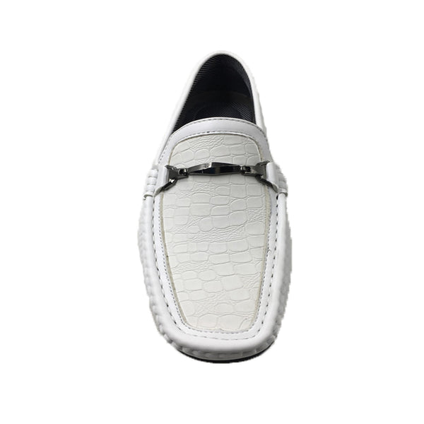 Mecca Men's White Faux Leather Shoes for $0.60 at THOKO PLACE