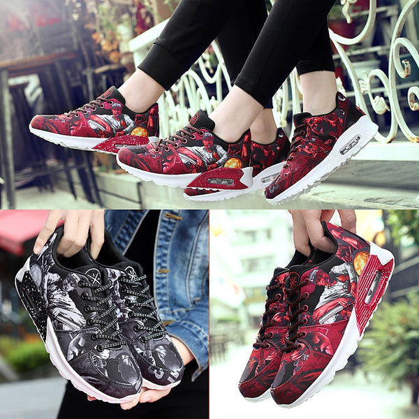 Mixed Color Lace Up Denim Air Sport Shoes for $0.54 at THOKO PLACE