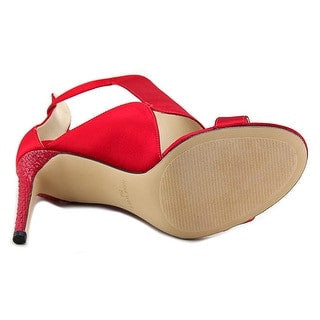 Open Toe Canvas Red Heels for $0.90 at THOKO PLACE