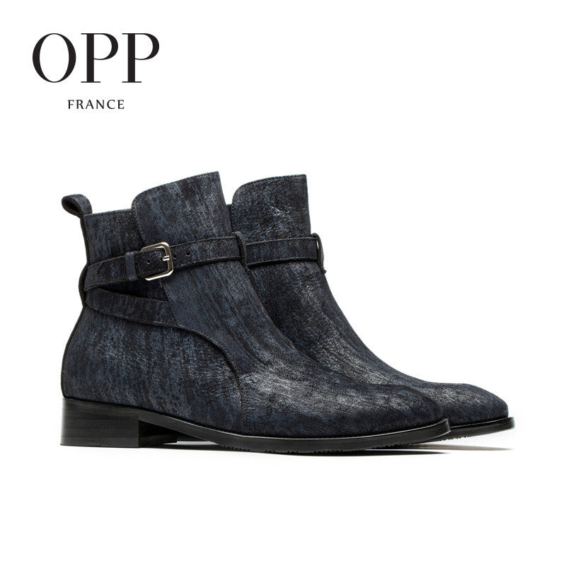 OPP Mens Leather Ankle Boots for $1.90 at THOKO PLACE