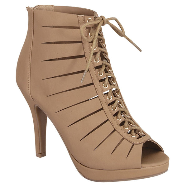 Peep Toe Gladiator Booties for $0.49 at THOKO PLACE