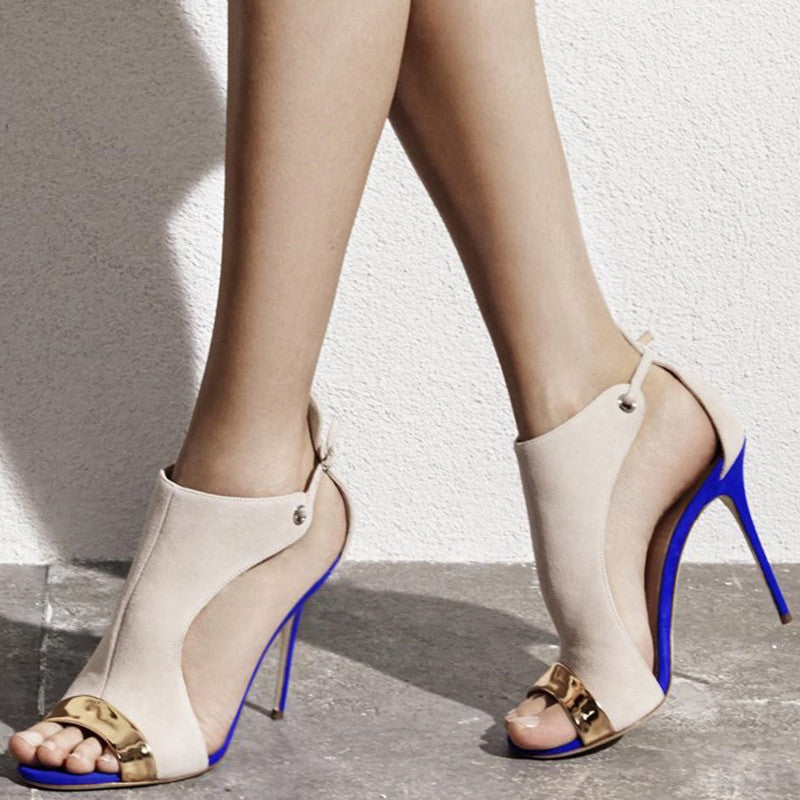 Cashmere Leather High Heels for $0.80 at THOKO PLACE