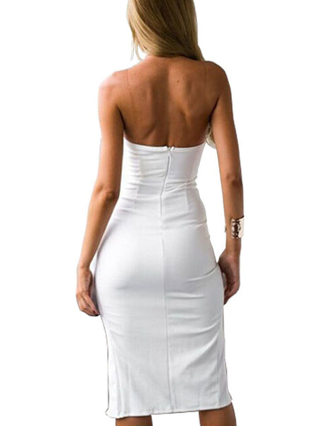 Sexy Bandage Backless Bodycon Dress for $0.29 at THOKO PLACE
