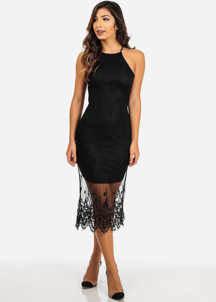 Sexy Sheer Lace Maxi Dress for $0.39 at THOKO PLACE