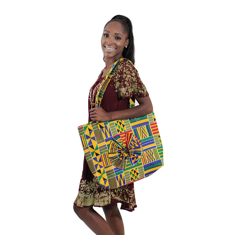 Kente Beauty-Bow Tote Bag for $0.43 at THOKO PLACE