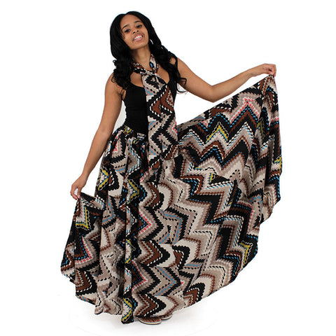 African Print Flared Skirt