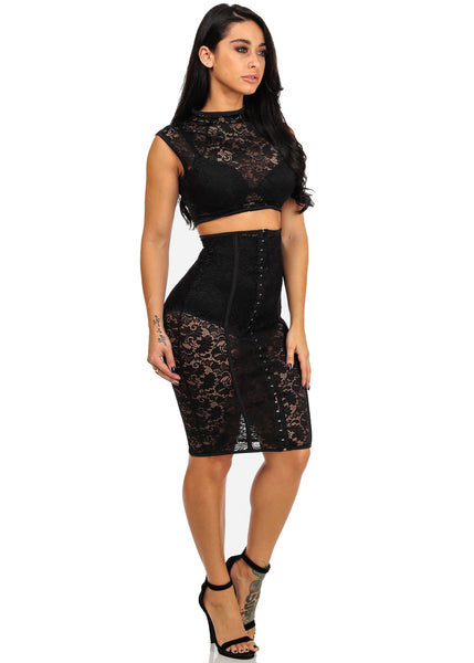 Super Sexy Black Lace Bodycon Dress for $0.70 at THOKO PLACE