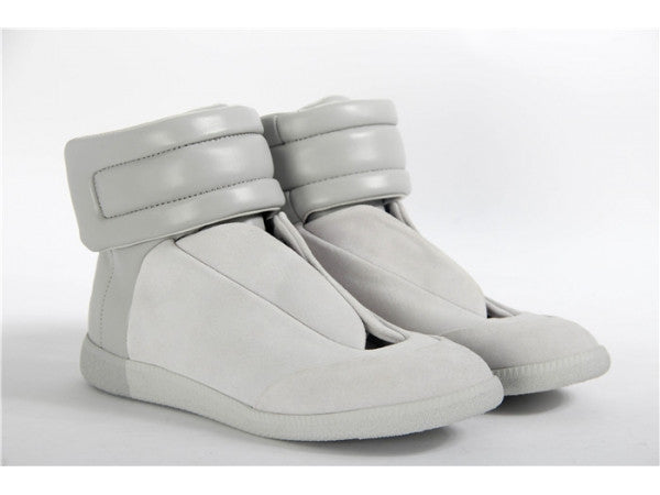 Maison Margiela Grey Suade Hightops for $3.50 at THOKO PLACE