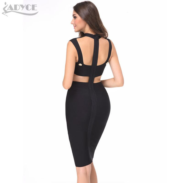 Gold Button Backless Sexy Celebrity Mini Bodycon Dress for $0.49 at THOKO PLACE