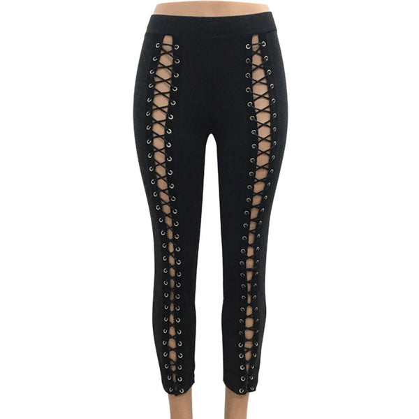 High Waist Hollow Out Leggings