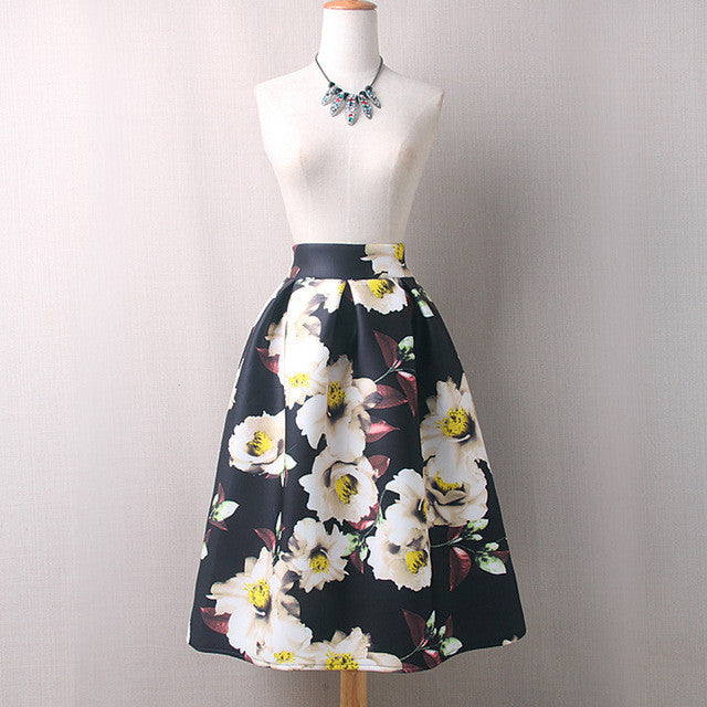 Floral Print Women Skirt for $0.50 at THOKO PLACE