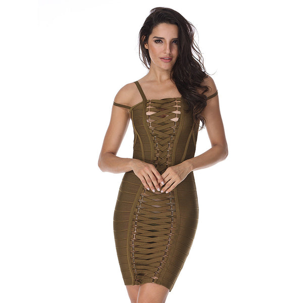 Party Bodycon Straps Dress for $0.69 at THOKO PLACE