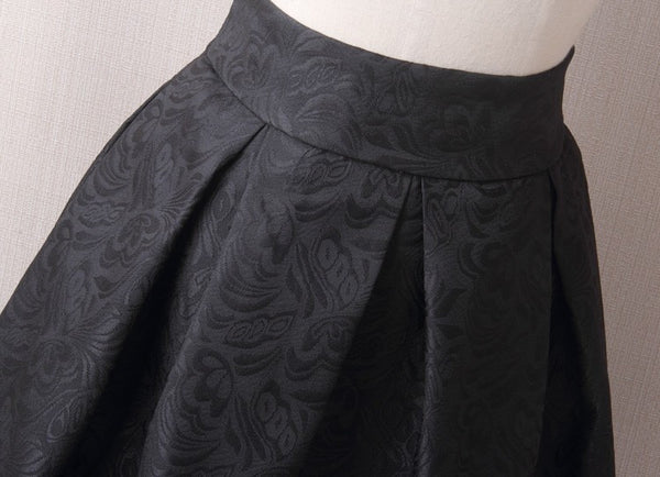 Vintage Charm Lady Jacquard Pleated Midi Office Skirt for $0.37 at THOKO PLACE