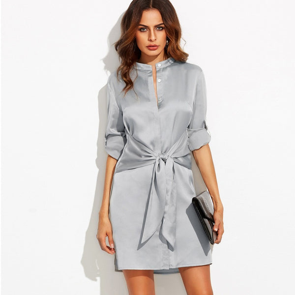 Ladies Stain Self Tie Dress for $0.46 at THOKO PLACE