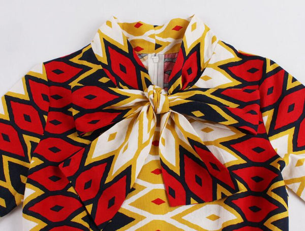 Half Sleeve African Print Enthnic Dress for $0.49 at THOKO PLACE
