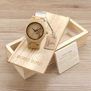 Womens Deer Wooden Bamboo Wrist Watch for $0.50 at THOKO PLACE