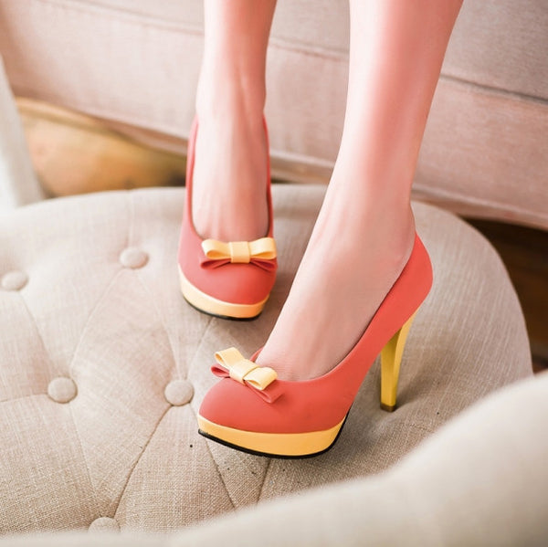 Sweet Platform Thin High Heels