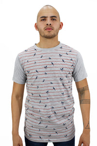 Playera Aves y Lineas