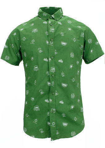Camisa Estampado Adventure Verde