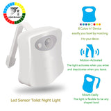 Smart Toilet Night Light Motion Auto Sensor