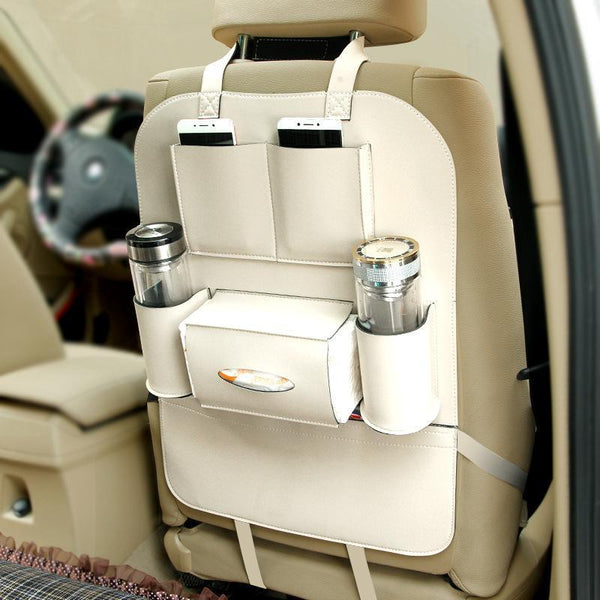 Leather Car Back Seat Organizer
