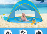 UV and Sun Shelter Playground Beach Tent with Kiddie Pool