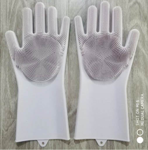 Magic Silicone Gloves with Wash Scrubber