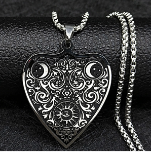 The Moon Heart Stainless Steel Necklace