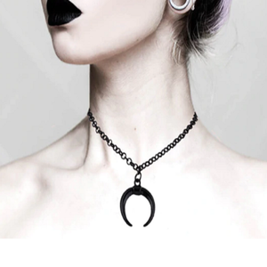 Black Moon Chain Necklace