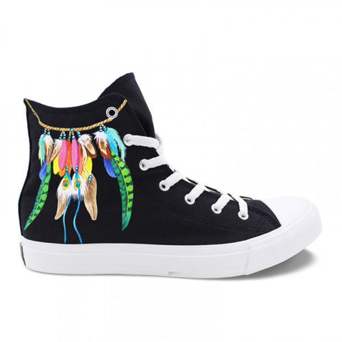 Wen's  Custom Hand Painted Dreamcatcher Women's  Canvas Sneakers