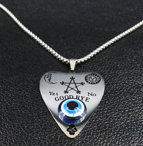 Ouija Blue Eye Stainless Steel Necklace