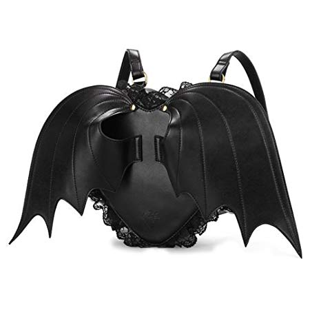 Black Bat Wings Backpack Purse