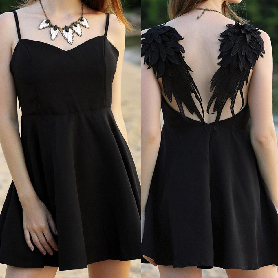 Dark Angel Wings Gothic Style Dress
