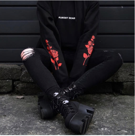 Almost Dead Roses Hooded Sweatshirt