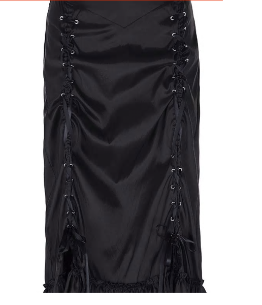 Gothic Long Mermaid Victorian Corset Skirt