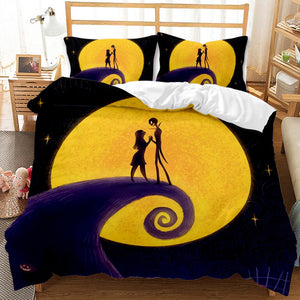 3pcs 3D Printed Nightmare Before Christmas Bedding