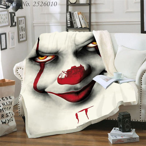 3D Printed Pennywise IT Throw Blanket