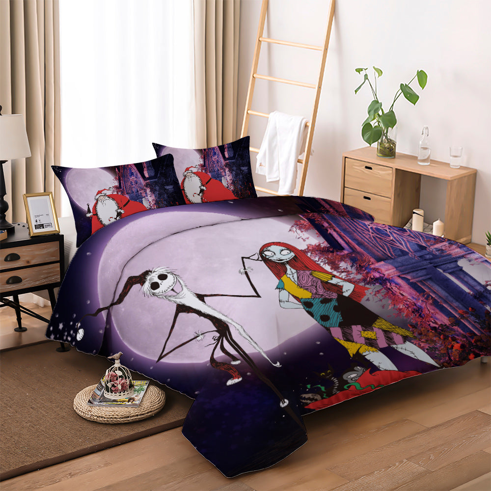 Nightmare Before Christmas Jack & Sally 3pcs Bedding
