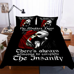 Nightmare Before Christmas Jack and Sally Bedding