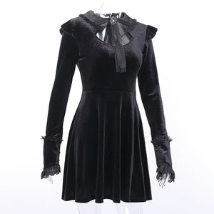 Gothic Style Lace Long Sleeve Vintage Dress