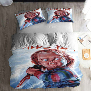 3D Print 3pcs Childs Play Chucky Movie Bedding Set