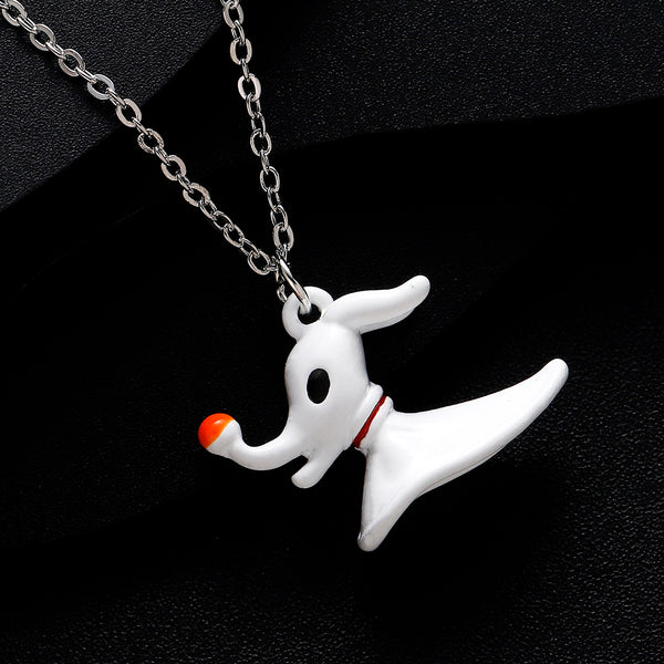 Nightmare Before Christmas Zero Necklace
