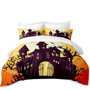 The Haunted Castle  3PC Duvet Bedding Set