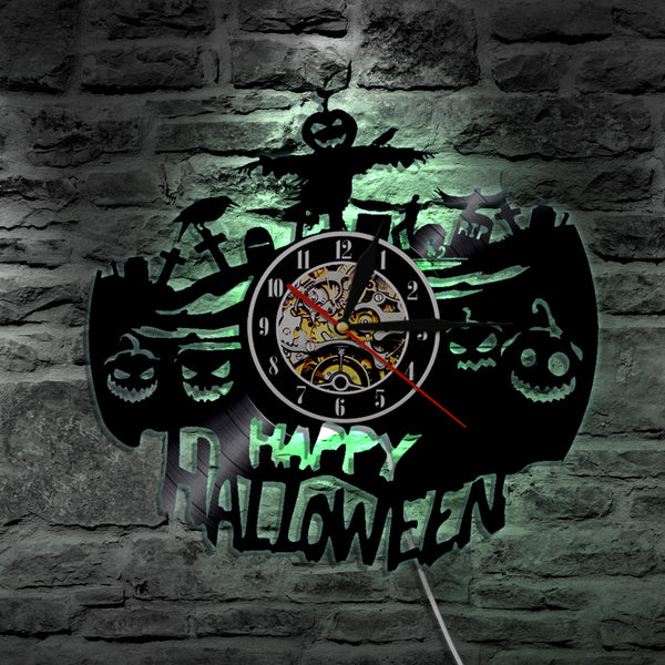 3D LED Happy Halloween Wall Clock