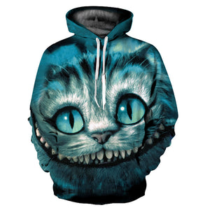 3D Cheshire Cat Alice in Wonderland Hoodie Sweatshirt