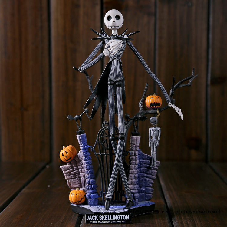 Jack Skellington Action Figure Collectible Model Toy 18.5cm