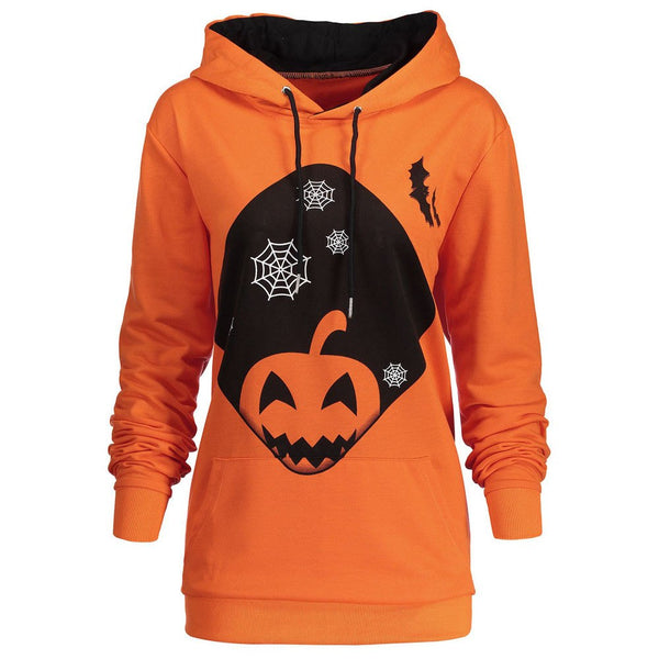 Pumpkin Web Hooded Sweatshirt