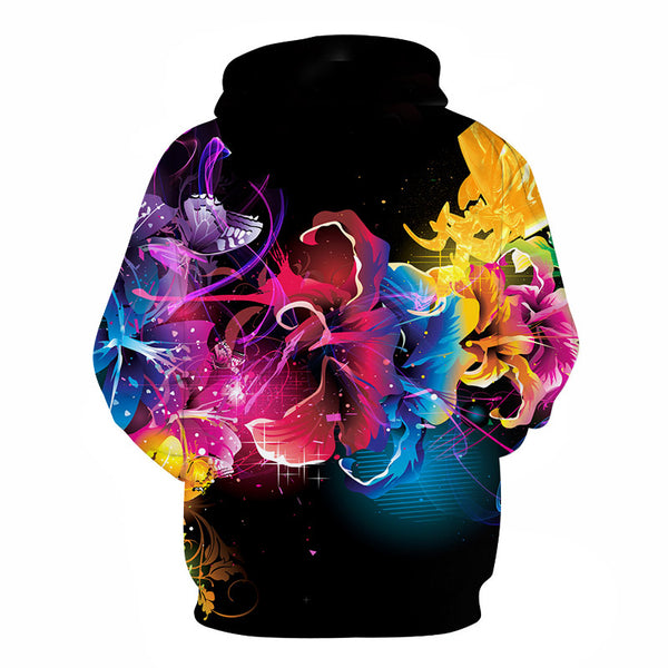 Colorful Mind 3D Print Hooded Sweatshirt
