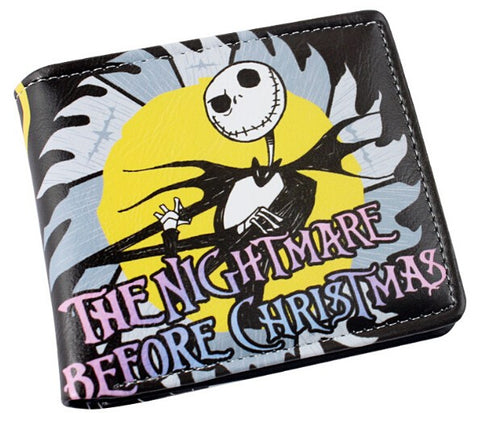 The Nightmare Before Christmas Jack Skellington Cartoon Wallet
